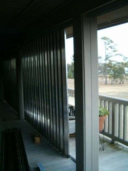 Panel Shutters for Hurricane Protection on a Home in Wilmington